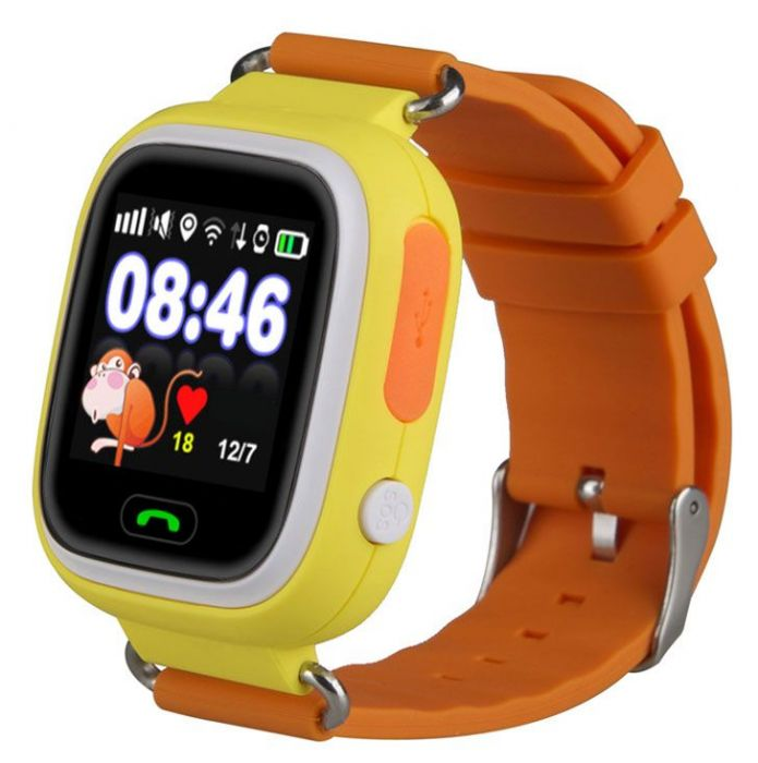 Умные часы Smart Baby Watch GW100 (Желтые)