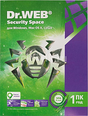 Антивирус DR.Web Security Space 1 ПК/1 год
